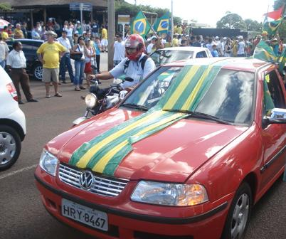 Verde e amarelo eram cores obrigatórias nos carrosBruna Girotto
