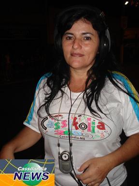 Izabel é única mulher da equipe de transmissão do CassiFolia 2009Bruna Girotto