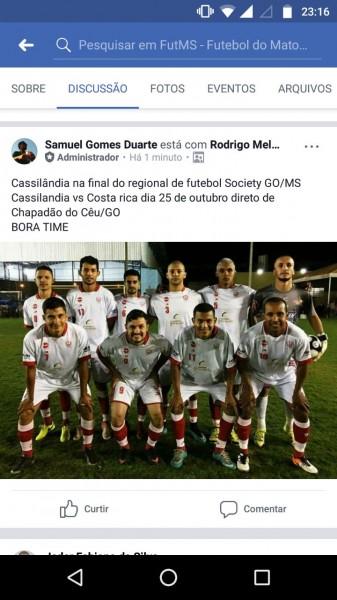 Time de futebol 7 vence campeonato interestadual em Chapadão do Céu