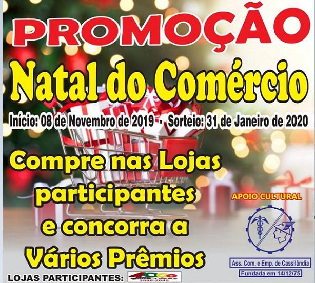 Hoje é o dia do sorteio da promoção de Natal da Associação Comercial; participe