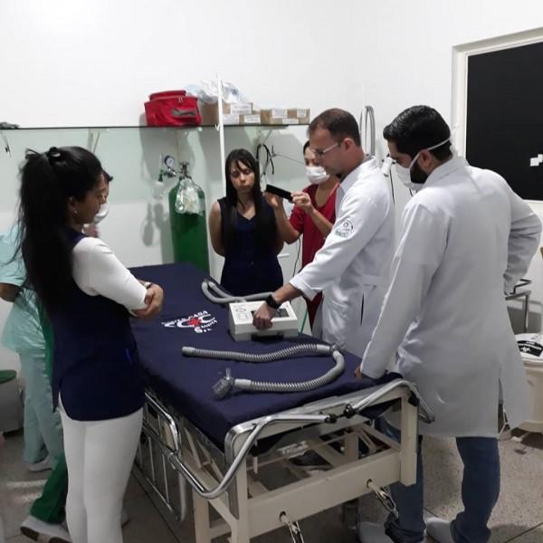 Fotogaleria: Santa Casa faz treinamento para utilização de respirador