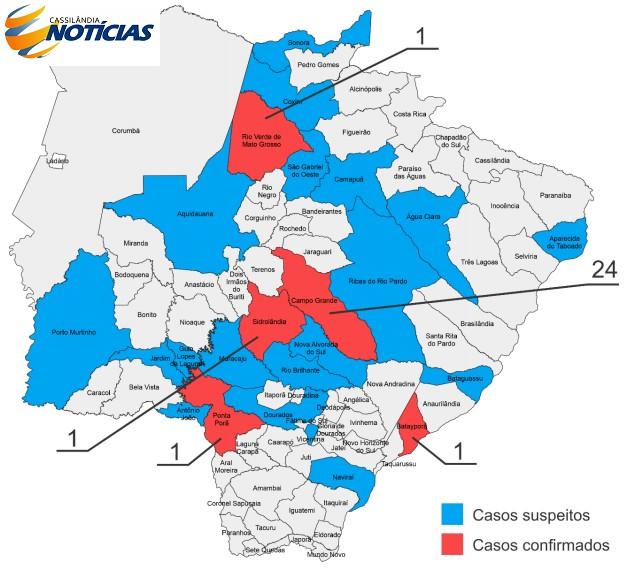 Coronavírus: confira o boletim diário do Estado de Mato Grosso do Sul