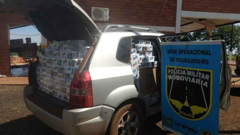 Veículo apreendido pelos policiais. Foto: Divulgação