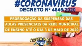 Covid-19: Costa Rica também prorroga a suspensão das aulas presenciais