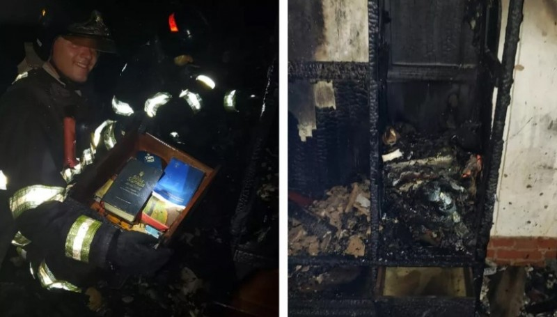 Gaveta com Bíblia fica intacta em incêndio a casa no Domingo de Ramos em Marília — Foto: Arquivo Pessoal