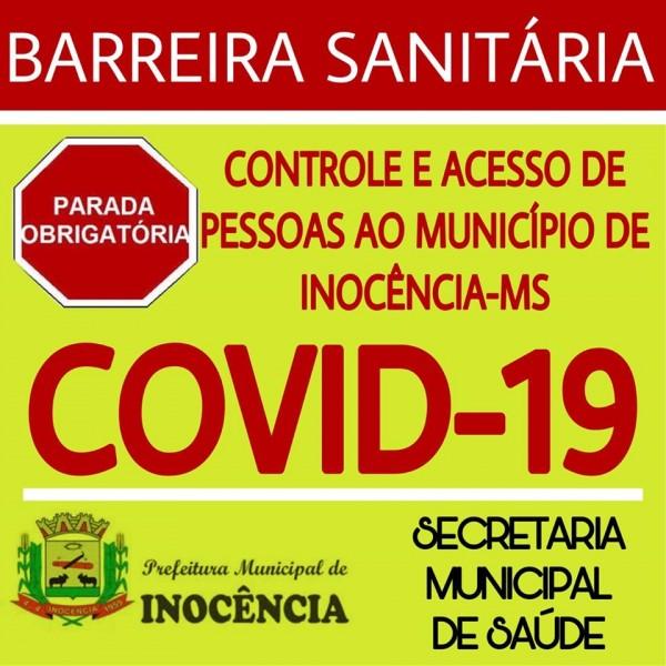 Covid-19: Inocência cria barreira sanitária para conter o Covid-19