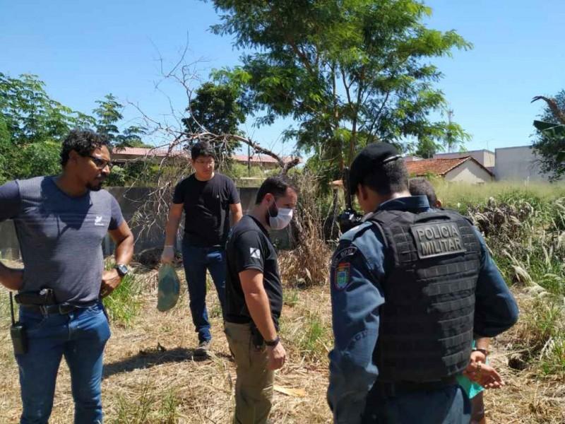 Local onde a vítima foi deixada. Foto: Divulgação/PM