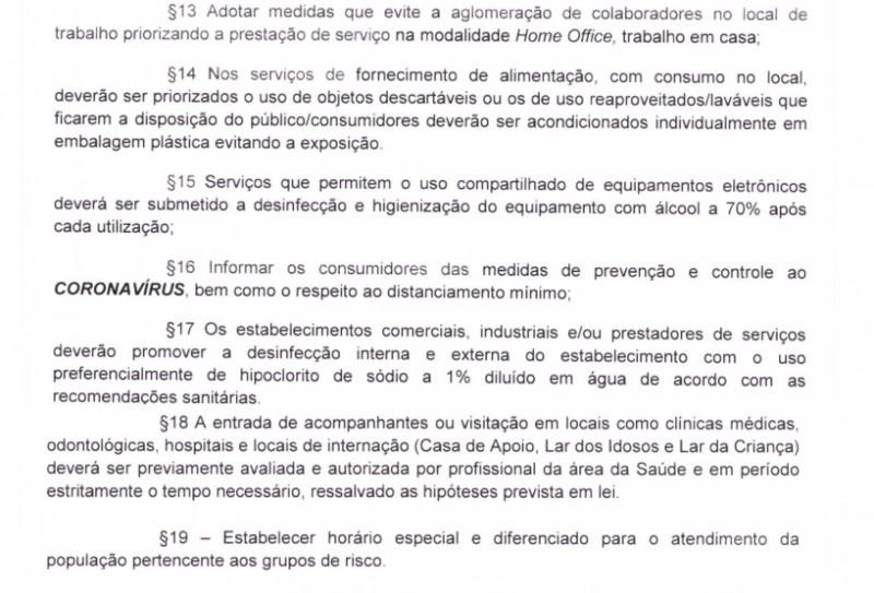 Covid-19: confira o novo Decreto da Prefeitura de Cassilândia para o comércio
