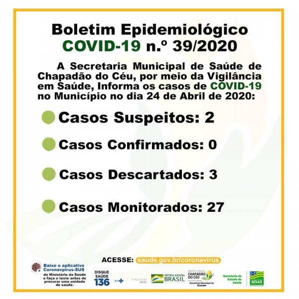 Covid-19: veja o boletim diário da Secretaria de Saúde de Chapadão do Céu/GO