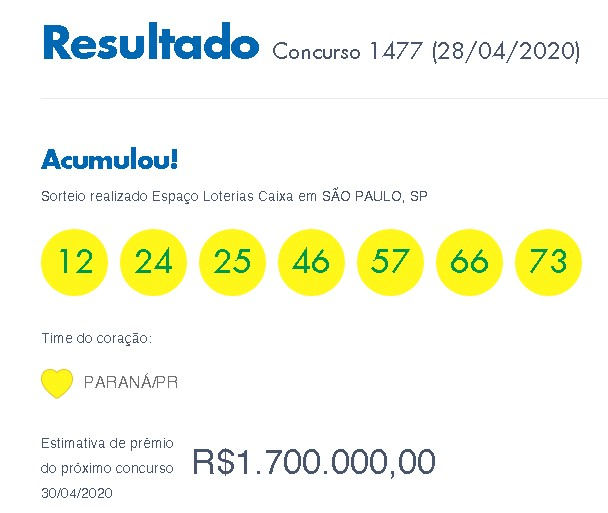 Loterias: Timemania acumula
