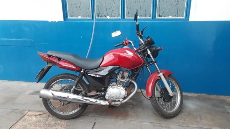 Polícia Militar recupera motocicleta furtada em Cassilândia