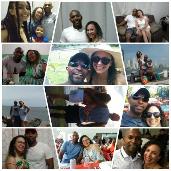 O casal Guilherme Conceição e Roseli Soares comemorando Bodas de Porcelana, 20 anos de casados. Parabéns.