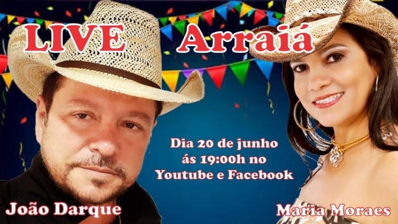 Hoje, às 18 horas(MS), pelo YoTube tem live com os cantores cassilandense Maria Moraes e João Darque.
