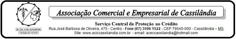 Atenção empresários: comunicado da Associação Comercial de Cassilândia