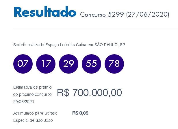 Loterias: Quina de São João sai para cinco apostadores