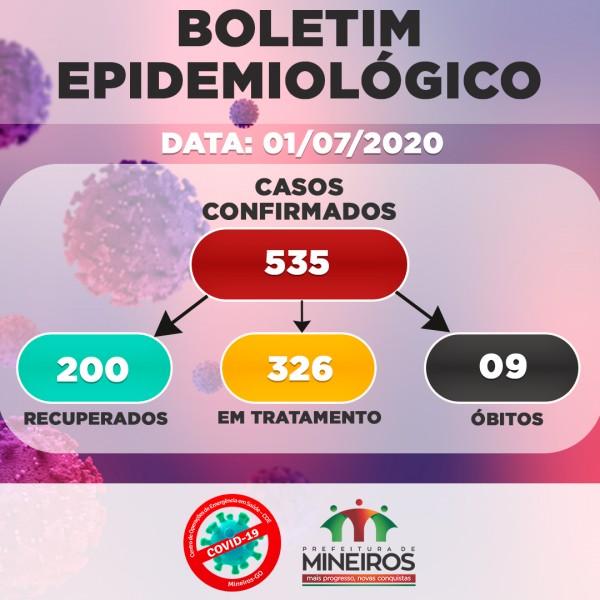 Covid-19: confira o boletim desta quarta-feira de Mineiros, Goiás