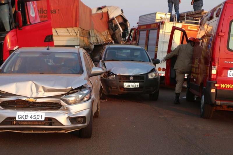 Novas informações sobre o grave acidente na MS 306 envolvendo 4 veículos