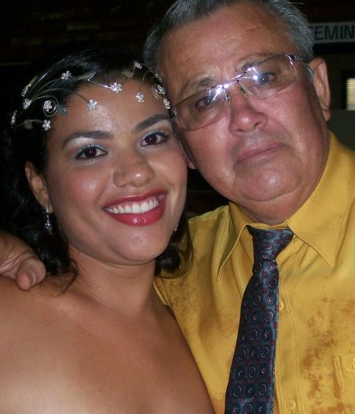 Vasco e sua filha Ana Paula