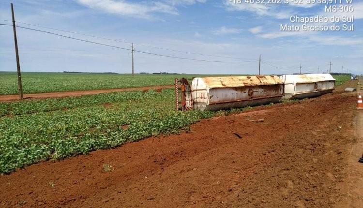 Empresa é multada em R$ 290 mil por derramar etanol à margem da MS-306