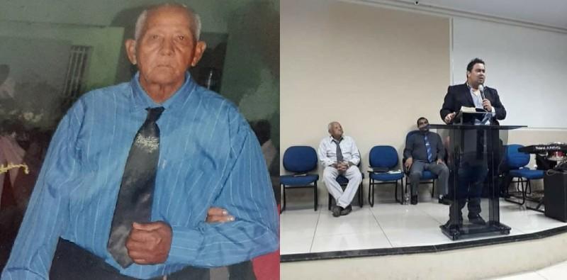 Sr. Olício (à esquerda) e seu filho Dorcelino (à direita). Fotos: Facebook
