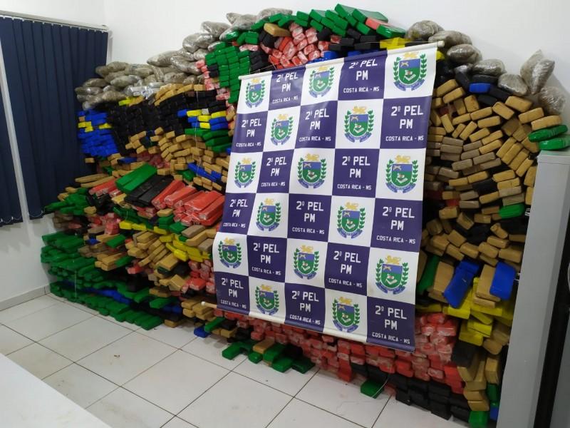 Fotogaleria: Polícia Militar apreende 2 toneladas de drogas em Costa Rica