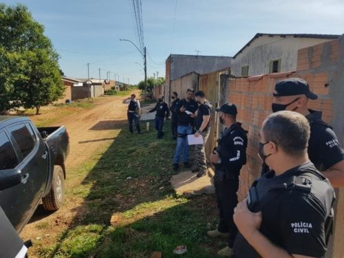 PC cumpre prisões e buscas relativas a homicídio ocorrido em Santa Rita Araguaia