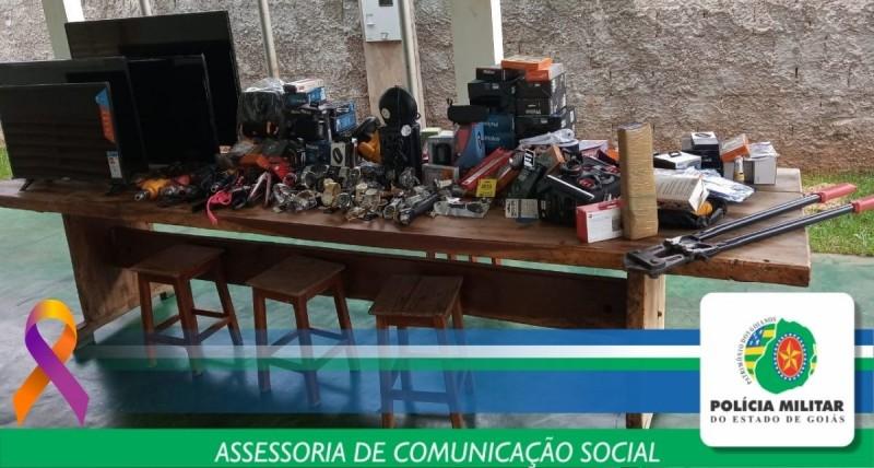PMGO recupera R$ 42 mil em mercadorias furtadas na cidade de Paranaiguara