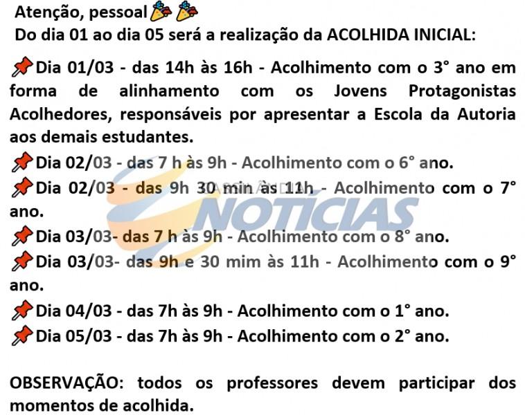 Cassilândia: Escola Hermelina B. Leal divulga calendário de volta às aulas