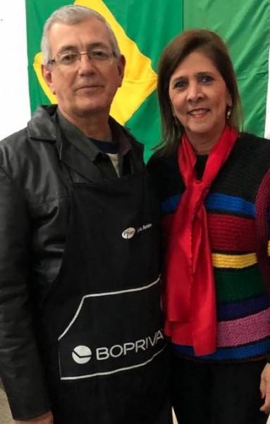 Sandra e seu marido Mineiro.