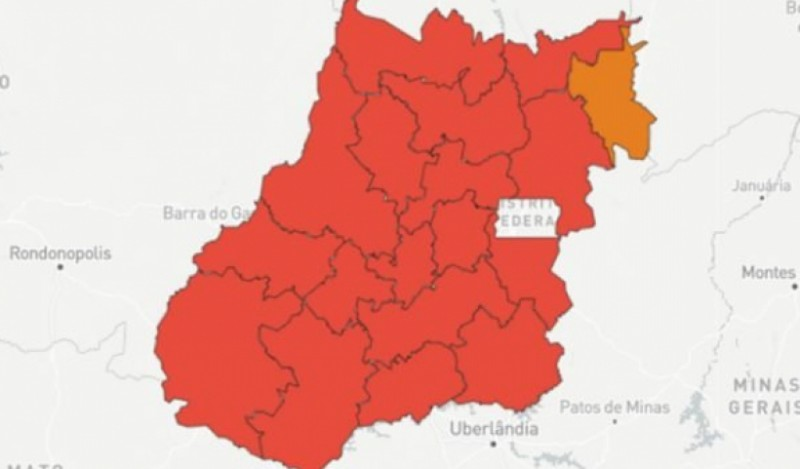 Covid: só 11 de 246 cidades não estão em calamidade em Goiás