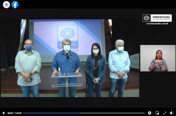Em live no Facebook, prefeito Seba anunciou a implantação de medidas restritivas contundentes