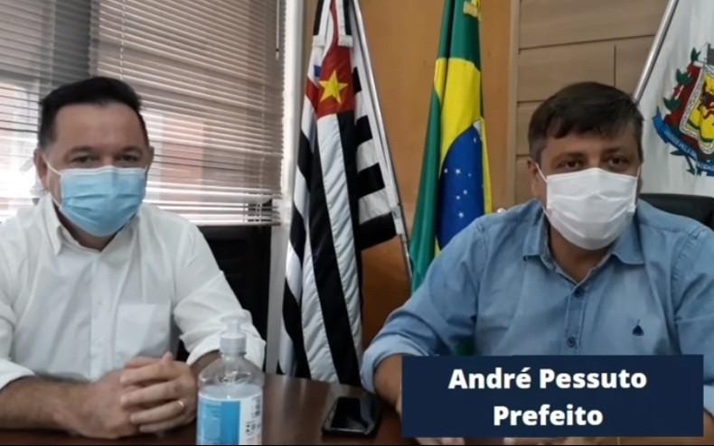 Secretário de Saúde Ivan Veronesi e o prefeito André Pessuto