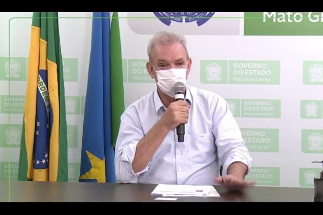 Geraldo Resende confirmou caso da variante durante live na manhã desta quarta-feira.