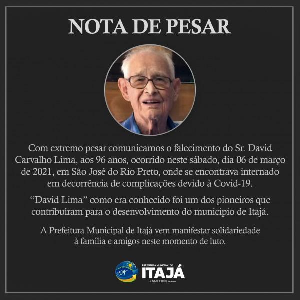 Morre o pecuarista David Lima