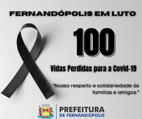 Fernandópolis chega a 100 mortos pela Covid-19