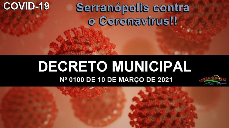 Prefeitura de Serranópolis baixa novo decreto para o combate à Covid-19