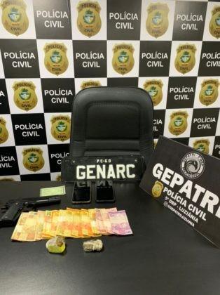 Polícia Civil de Goiás prende suspeito de tráfico em Luziânia