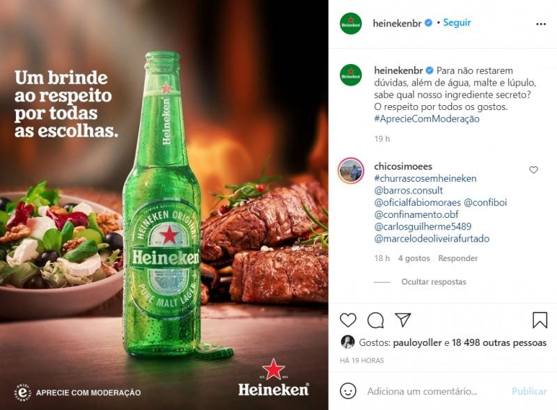 Publicidade da cerveja Heineken gera polêmica na internet; empresa responde