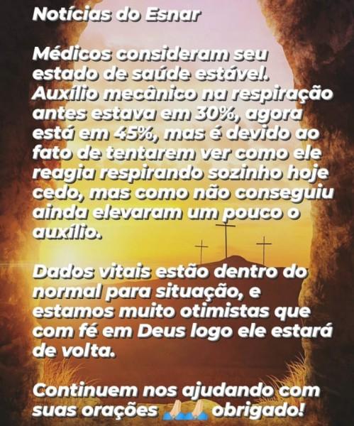 Cassilândia: boletim médico de Esnar José Barbosa