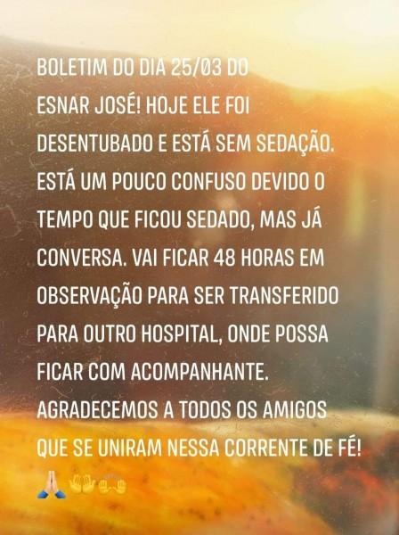 Covid-19: veja o boletim do cassilandense Esnar José Barbosa