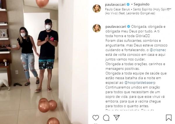 Covid-19: sertanejo Cristiano, da dupla com Zé Neto, tem alta após internação