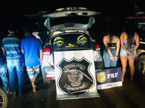 Ação conjunta entre PC e PRF prende autores de roubos e sequestros