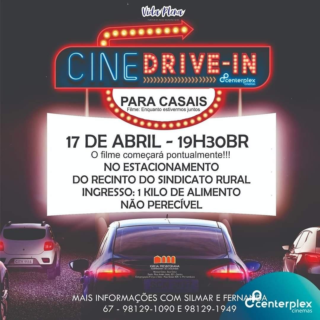Hoje tem cinema em Cassilândia; entrada é um quilo de alimento não perecível