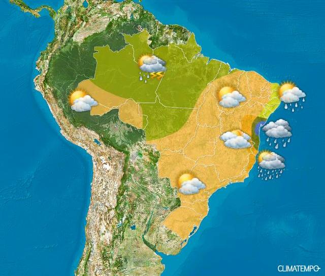 Frente fria traz chuva e pode provocar queda na temperatura nos próximos dias em Goiás