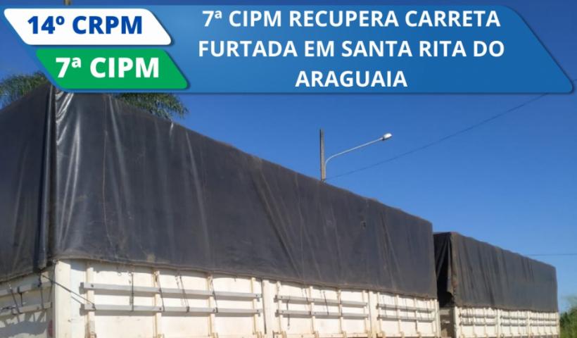 Polícia recupera carreta furtada em Santa Rita do Araguaia, Goiás