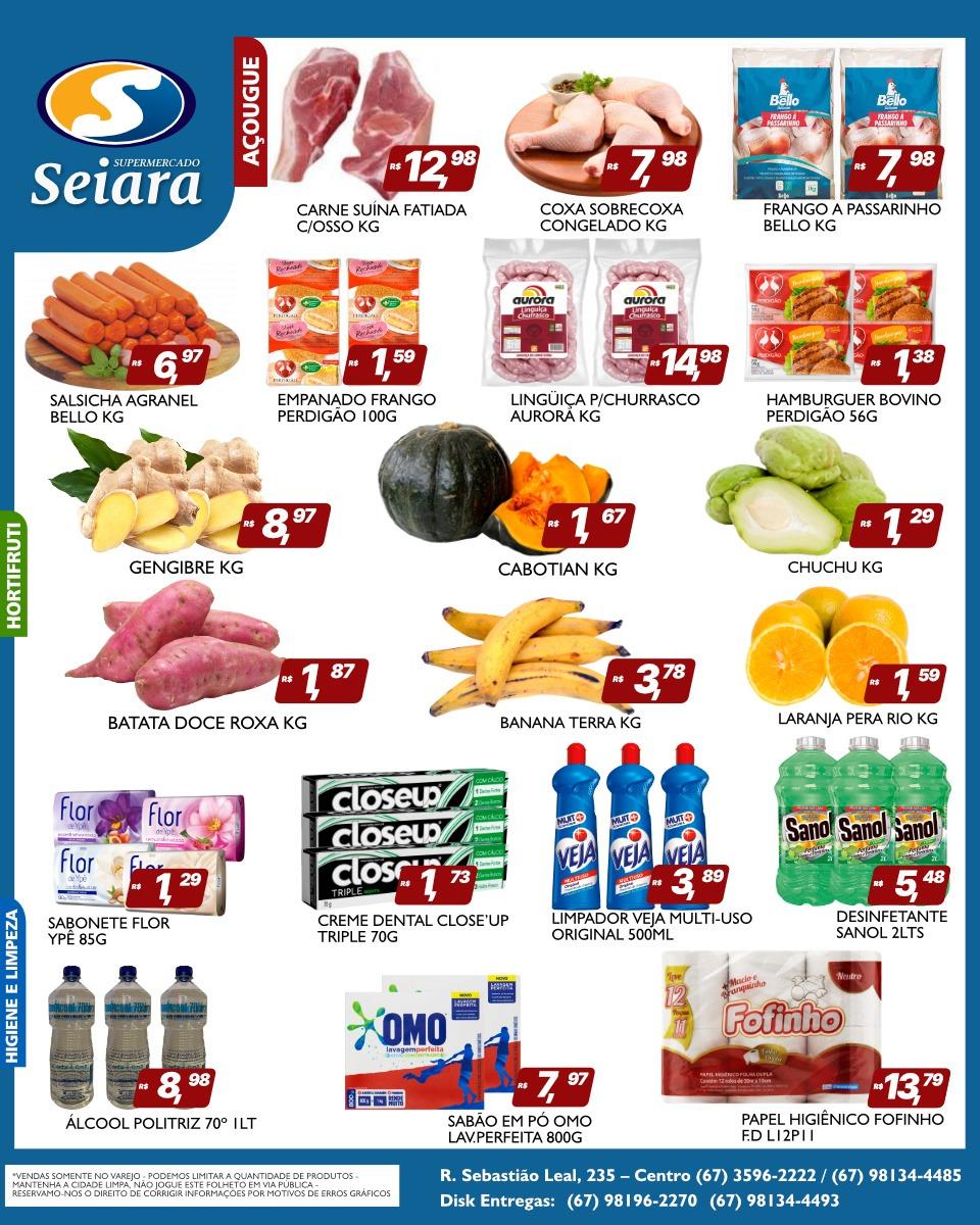 Seiara Supermercado Econômico e o novo folheto de ofertas; confira