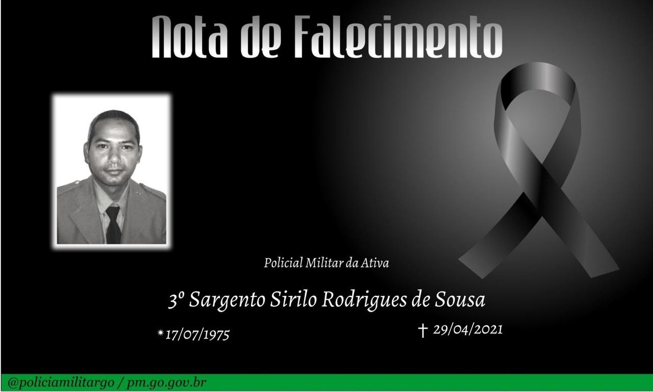 Nota de falecimento: 3º Sargento Sirilo Rodrigues de Sousa