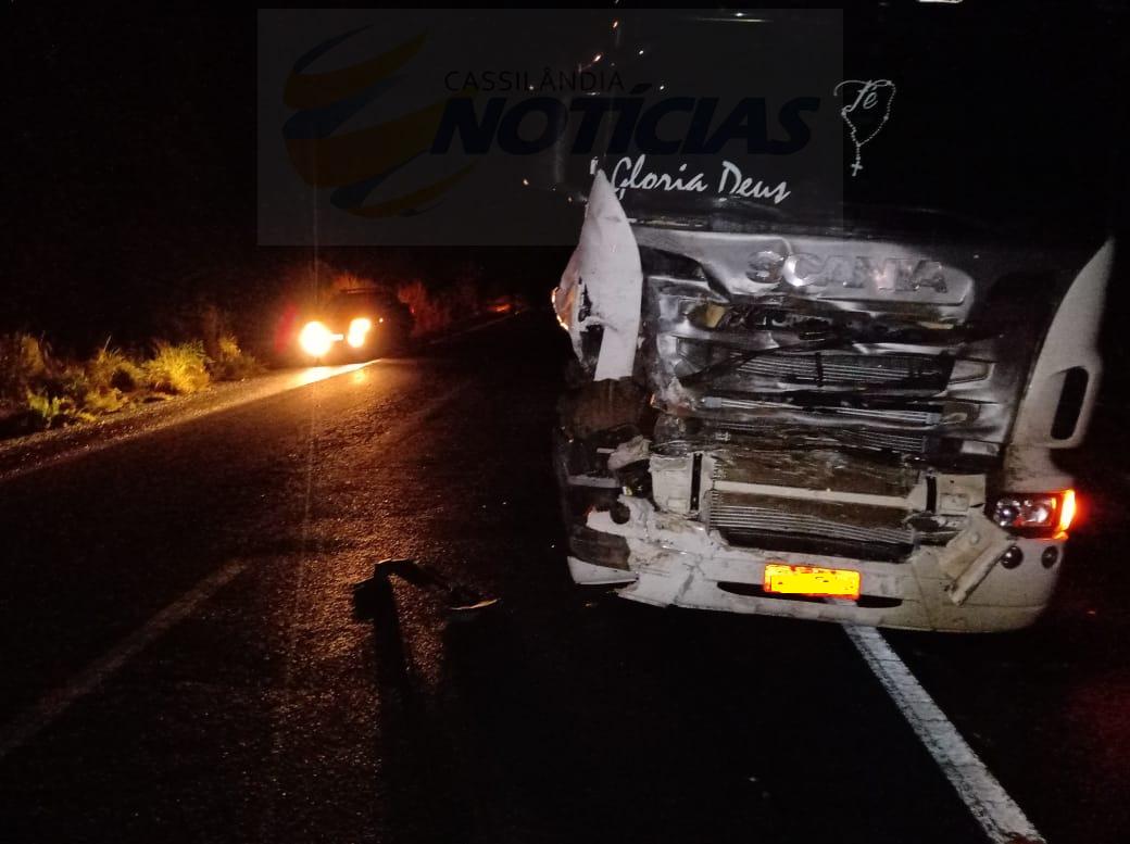 Fotogaleria: acidente com vítima interdita a BR158 próximo ao Posto Quinta Roda