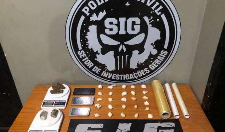 Dupla é presa por tráfico de drogas em Aparecida do Taboado