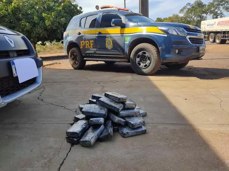 Com filhos no carro, casal é preso com cocaína avaliada em R$ 1,7 milhão
